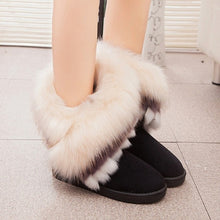 Load image into Gallery viewer, Snow Ankle Boots Fox Fur