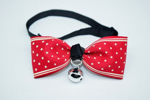 Load image into Gallery viewer, Cute Bow Tie Bell Pet Collars For Small Medium Cats/ Dog