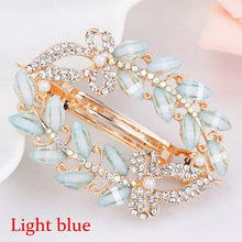 Load image into Gallery viewer, Butterfly Barrettes Clam Hairpins Crystal Rhinestone