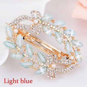 Butterfly Barrettes Clam Hairpins Crystal Rhinestone