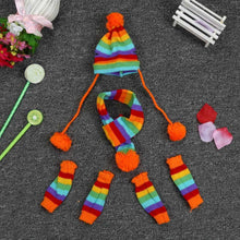 Load image into Gallery viewer, XS/S/M/L New 6Pc/Set Dog/ Puppy Hat Scarf Leg Warmer Pet Clothes Dogs Wool Hat Scarf Leg warmer