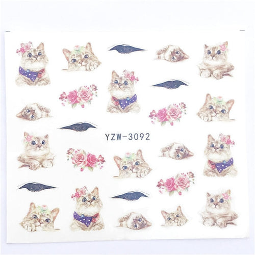 Wolf/Vintage/Flamingo Noble Nail Art Water Decals