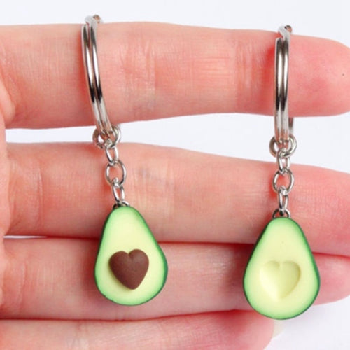Avocado Heart-shaped Keychain