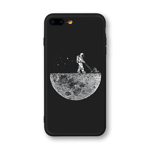Moon Astronaut Phone Cases For iphone 7 8 X Case For iphone 6 7plus XR XS Max
