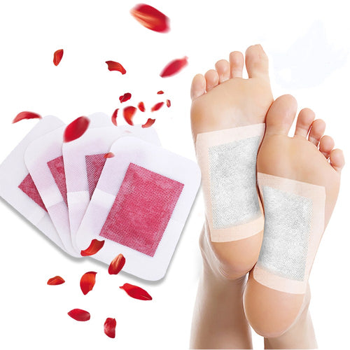 Foot Care Patch 4 Pieces Body Toxins Pads Improve Sleep Rose Essential Oil Herbal Adhesive