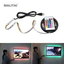 Load image into Gallery viewer, 5V USB Power LED lamp Strip 2835 SMD RGB LED Under Cabinet light TV