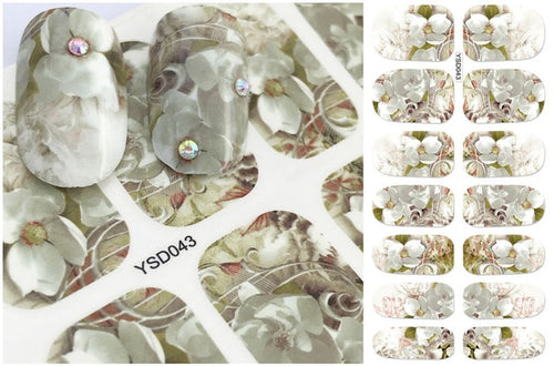 Floral design Nail Art Stickers