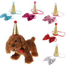Load image into Gallery viewer, 1 Set Pet Crown & Bow Tie Birthday Party Outfit