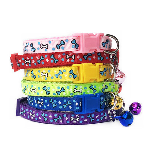 Pet Collar with Bell Adjustable Buckle