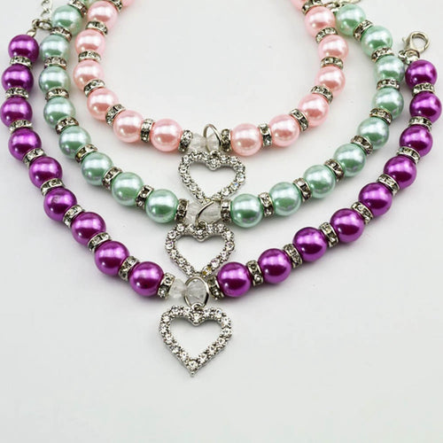 Pearl Necklace Pet Accessories