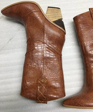Load image into Gallery viewer, Embossed microfiber leather  western cowboy boots