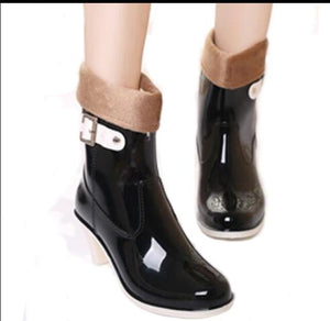 Jelly High-heeled  Rain  Boots