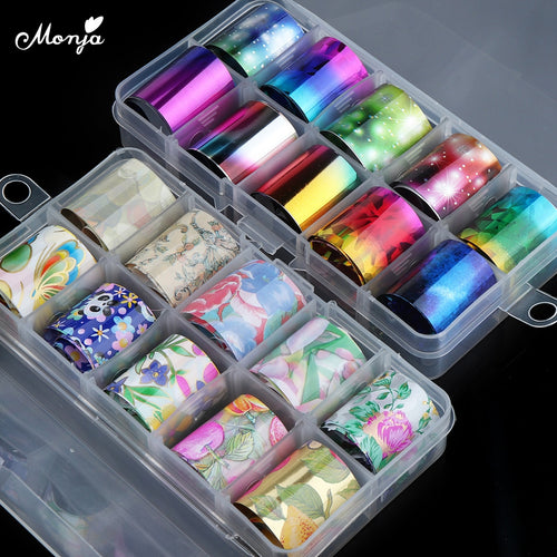 10 Rolls 2.5*100cm Nail Foils .Starry Sky Sticker Holographic Transfer Decals