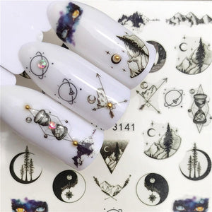Butterfly / Lotus Designs Nail Art