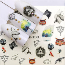 Load image into Gallery viewer, Halloween Nail Sticker Water Self Adhesive Nail Art