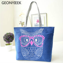Load image into Gallery viewer, Owl Shopping Handbag