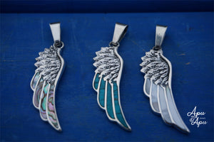 silver feather pendant necklace - spiritual jewelry idea from Peru