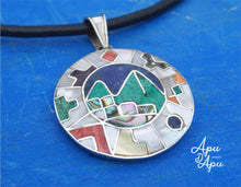 Load image into Gallery viewer, macchu picchu pendant, peruvian silver jewelry