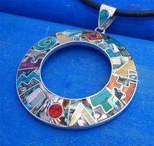 Load image into Gallery viewer, big inka balendar necklace, peruvian silver jewelry