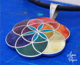 flower of life pendant, sacred geometry, symbol of life