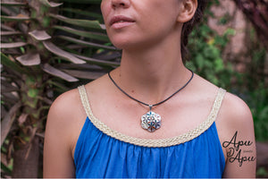 big sacred flower of life pendant necklace from Peru