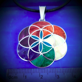 flower of life pendant 3 cm large