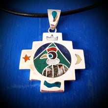 Load image into Gallery viewer, condor spirit chakana necklace - mountain jewelry from Peruvian Andes