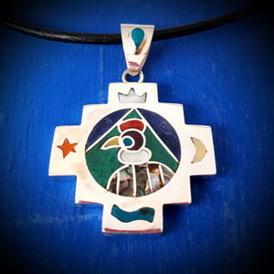 condor spirit chakana necklace - mountain jewelry from Peruvian Andes