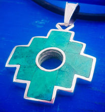 Load image into Gallery viewer, large chakana 2 in 1 pendant necklace