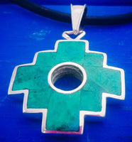 large inca cross chakana pendant necklace