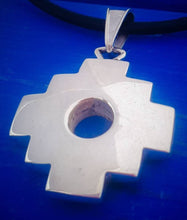 Load image into Gallery viewer, double face chakana inca cross pendant necklace
