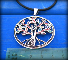 Load image into Gallery viewer, tree of life with lovers couple intwined - valentines jewelry gift