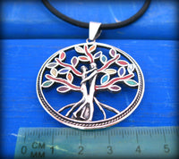 tree of life with lovers couple intwined - valentines jewelry gift