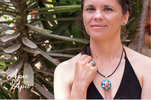 Load image into Gallery viewer, inka sun god ring and necklace, Peruvian silver jewelry