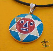 Load image into Gallery viewer, inca sun God pendant from Peru