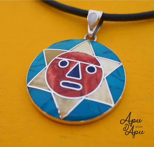 inca sun God pendant from Peru