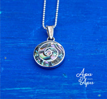 Load image into Gallery viewer, pachamama small pendant necklace abalone silver