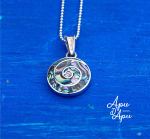 pachamama small pendant necklace abalone silver