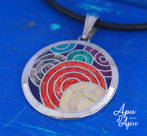 7 colors pachamama pendant silver