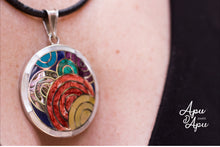 Load image into Gallery viewer, 7 colors pachamama pendant silver, inca symbol