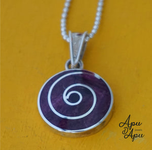 purple pachamama silver necklace, best gift for mothers day