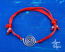 Load image into Gallery viewer, pachamama symbol on red string, best cool friendship bracelet