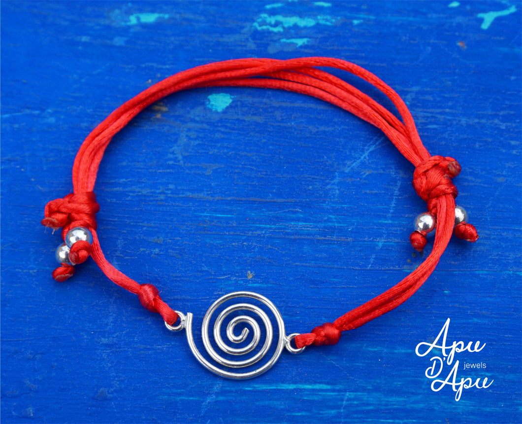 pachamama symbol on red string, best cool friendship bracelet