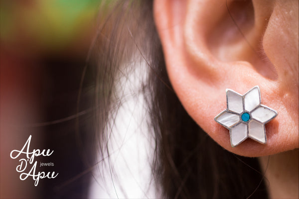 snow flake studs, must have snow jewelry