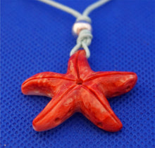 Load image into Gallery viewer, star-fish-red-pendant-necklace
