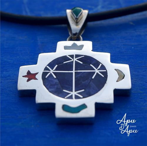 starseed chakana inca cross pendant necklace