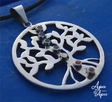 Load image into Gallery viewer, tree of life pendant with kundalini rising