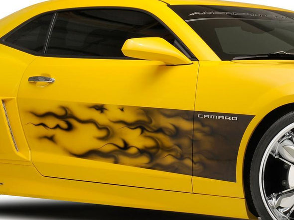 Camaro Side Decal Transparent Flames |  2010-2013