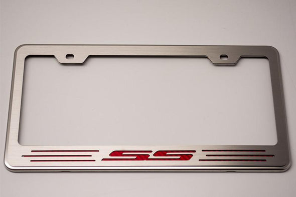 "Camaro License Plate Frame with ""SS"" Lettering"
