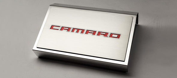 2016-2020 Camaro Fuse Box Cover & 'CAMARO' Top Plate | Stainless Steel